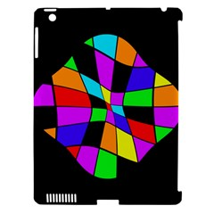 Abstract colorful flower Apple iPad 3/4 Hardshell Case (Compatible with Smart Cover)