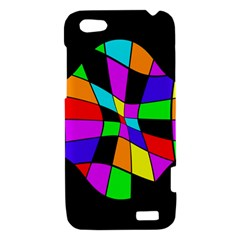Abstract colorful flower HTC One V Hardshell Case