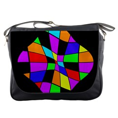Abstract colorful flower Messenger Bags