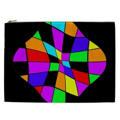 Abstract colorful flower Cosmetic Bag (XXL)
