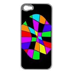 Abstract colorful flower Apple iPhone 5 Case (Silver)