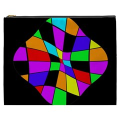 Abstract colorful flower Cosmetic Bag (XXXL)