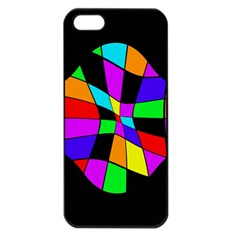 Abstract colorful flower Apple iPhone 5 Seamless Case (Black)
