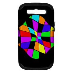 Abstract colorful flower Samsung Galaxy S III Hardshell Case (PC+Silicone)