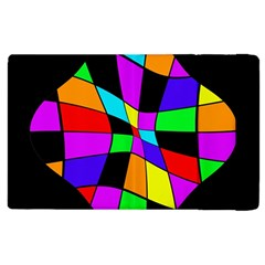 Abstract colorful flower Apple iPad 2 Flip Case