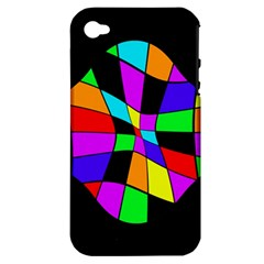Abstract colorful flower Apple iPhone 4/4S Hardshell Case (PC+Silicone)