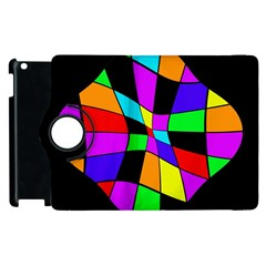 Abstract colorful flower Apple iPad 2 Flip 360 Case