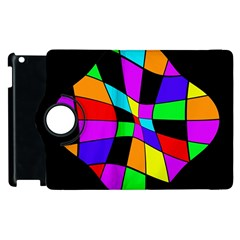 Abstract colorful flower Apple iPad 3/4 Flip 360 Case