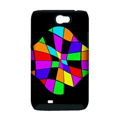 Abstract colorful flower Samsung Galaxy Note 2 Hardshell Case (PC+Silicone)