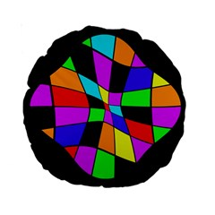 Abstract colorful flower Standard 15  Premium Round Cushions