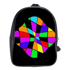 Abstract colorful flower School Bags (XL)