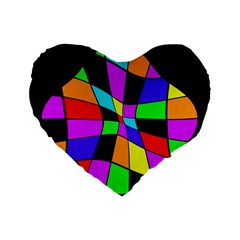 Abstract colorful flower Standard 16  Premium Heart Shape Cushions