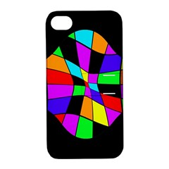 Abstract colorful flower Apple iPhone 4/4S Hardshell Case with Stand