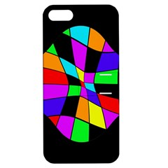 Abstract Colorful Flower Apple Iphone 5 Hardshell Case With Stand