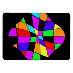 Abstract colorful flower Samsung Galaxy Tab 8.9  P7300 Flip Case