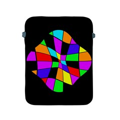 Abstract colorful flower Apple iPad 2/3/4 Protective Soft Cases