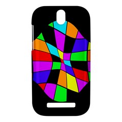 Abstract colorful flower HTC One SV Hardshell Case