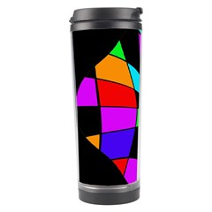 Abstract colorful flower Travel Tumbler