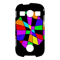 Abstract colorful flower Samsung Galaxy S7710 Xcover 2 Hardshell Case