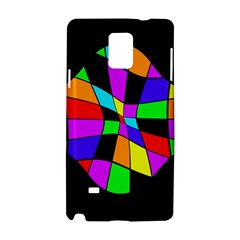 Abstract colorful flower Samsung Galaxy Note 4 Hardshell Case