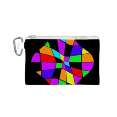 Abstract colorful flower Canvas Cosmetic Bag (S)