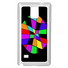 Abstract colorful flower Samsung Galaxy Note 4 Case (White)