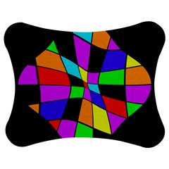 Abstract colorful flower Jigsaw Puzzle Photo Stand (Bow)