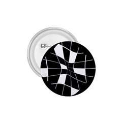 Black and white abstract flower 1.75  Buttons