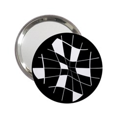 Black and white abstract flower 2.25  Handbag Mirrors