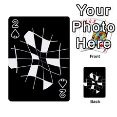 Black and white abstract flower Playing Cards 54 Designs