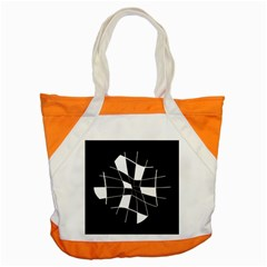 Black and white abstract flower Accent Tote Bag