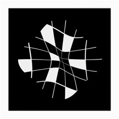 Black and white abstract flower Medium Glasses Cloth (2-Side)