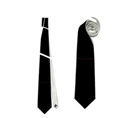 Black and white abstract flower Neckties (One Side)