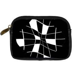Black and white abstract flower Digital Camera Cases