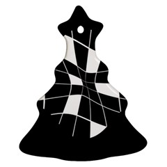 Black and white abstract flower Ornament (Christmas Tree)
