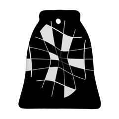 Black and white abstract flower Ornament (Bell)