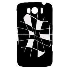 Black and white abstract flower HTC Sensation XL Hardshell Case