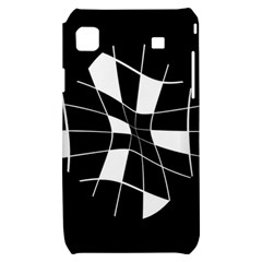 Black and white abstract flower Samsung Galaxy S i9000 Hardshell Case