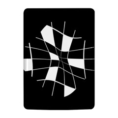 Black and white abstract flower Kindle 4