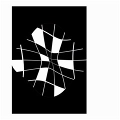 Black and white abstract flower Small Garden Flag (Two Sides)