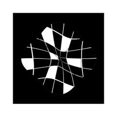 Black and white abstract flower Acrylic Tangram Puzzle (6  x 6 )