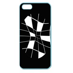 Black and white abstract flower Apple Seamless iPhone 5 Case (Color)