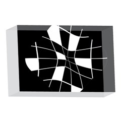 Black and white abstract flower 4 x 6  Acrylic Photo Blocks