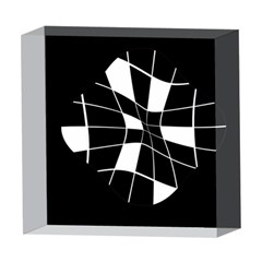 Black and white abstract flower 5  x 5  Acrylic Photo Blocks