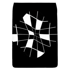 Black and white abstract flower Flap Covers (S)