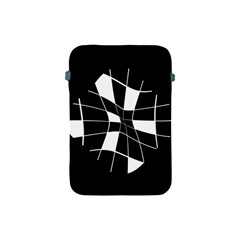 Black and white abstract flower Apple iPad Mini Protective Soft Cases