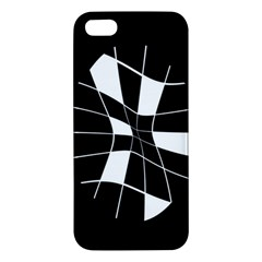 Black and white abstract flower iPhone 5S/ SE Premium Hardshell Case