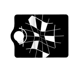 Black and white abstract flower Kindle Fire HD (2013) Flip 360 Case