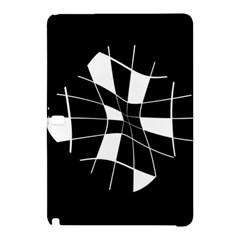 Black and white abstract flower Samsung Galaxy Tab Pro 12.2 Hardshell Case