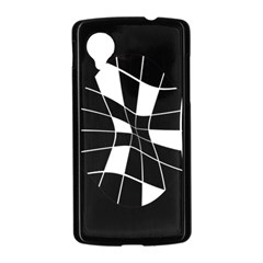 Black and white abstract flower Nexus 5 Case (Black)